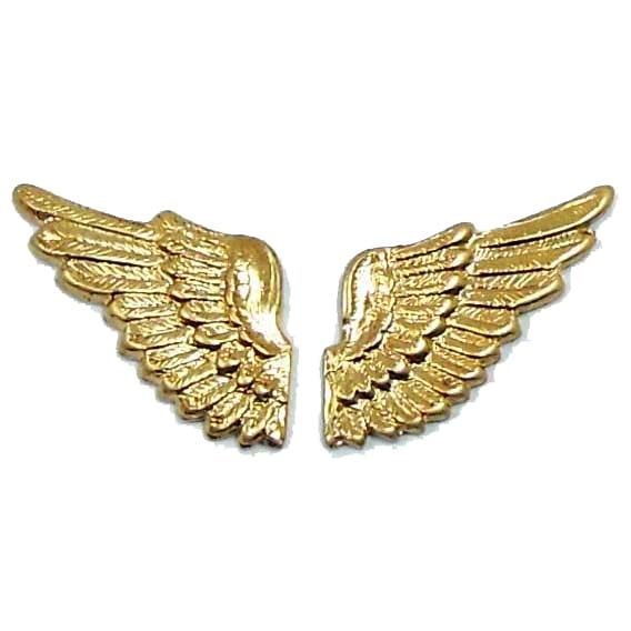 brass wings, bird wings, raw brass, 04122, antique brass, vintage jewelry supplies, brass jewelry parts, jewelry making supplies, US made, nickel free, Bsue Boutiques