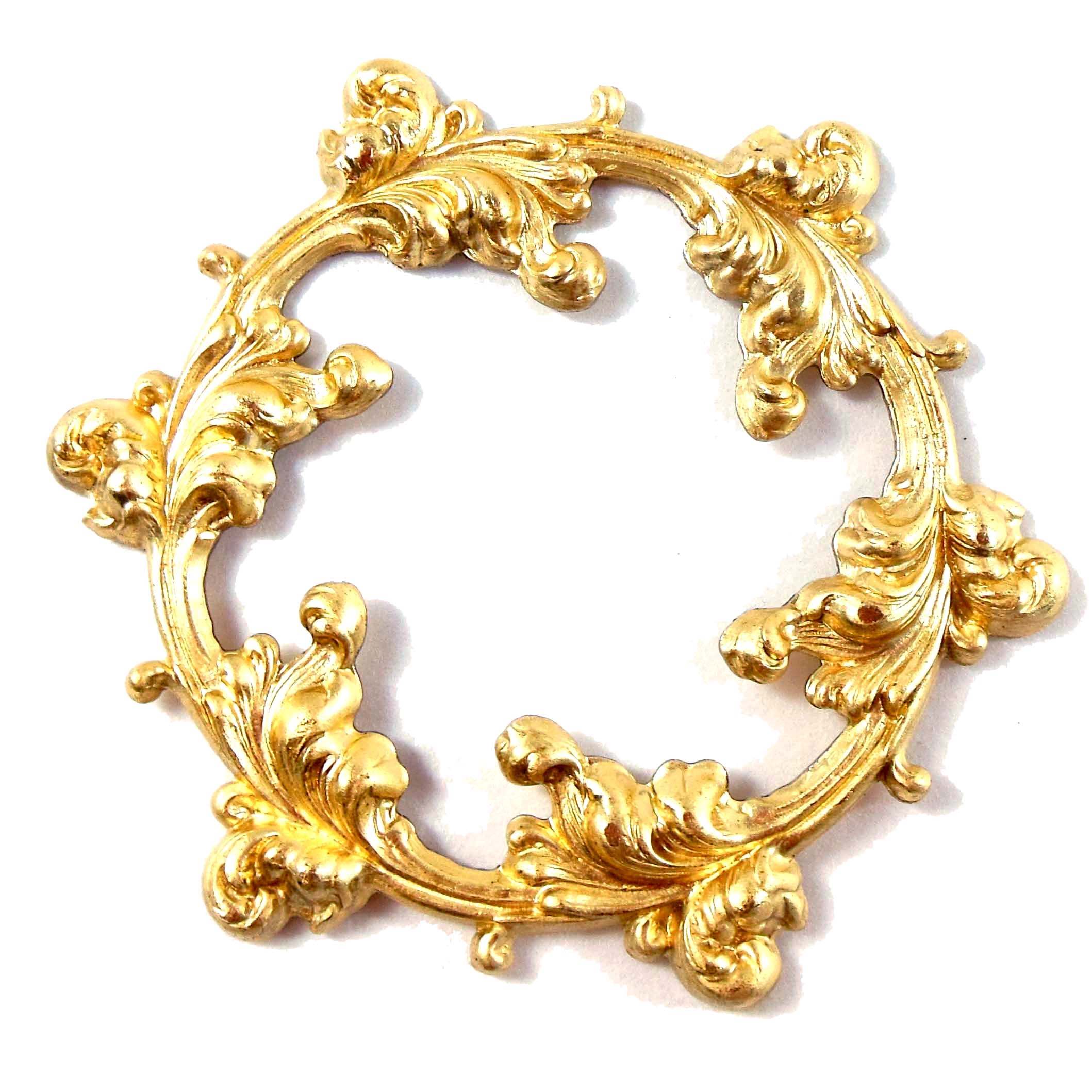 brass wreath, Victorian wreath, jewelry making