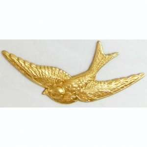 brass birds, bird jewelry, jewelry supplies, 04887, B'sue Boutiques, nickel free, US Made, jewelry making, brass stampings, brass findings, vintage jewelry supplies, vintage birds