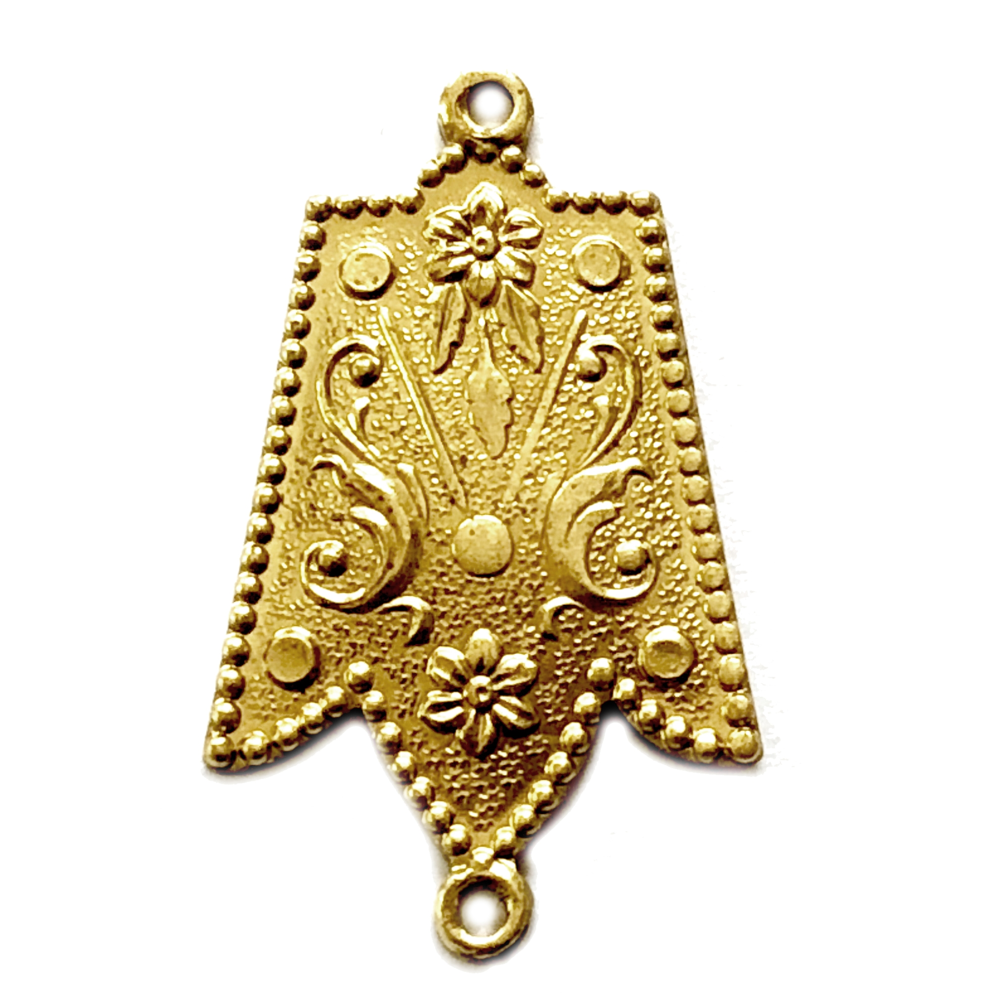Brass Stampings, Jester Pendant, Raw Brass, 05127, jewelry making supplies, vintage jewelry supplies, brass pendants, brass charms, US made, nickel free, Bsue Boutiques, brass jewelry parts, brass connectors