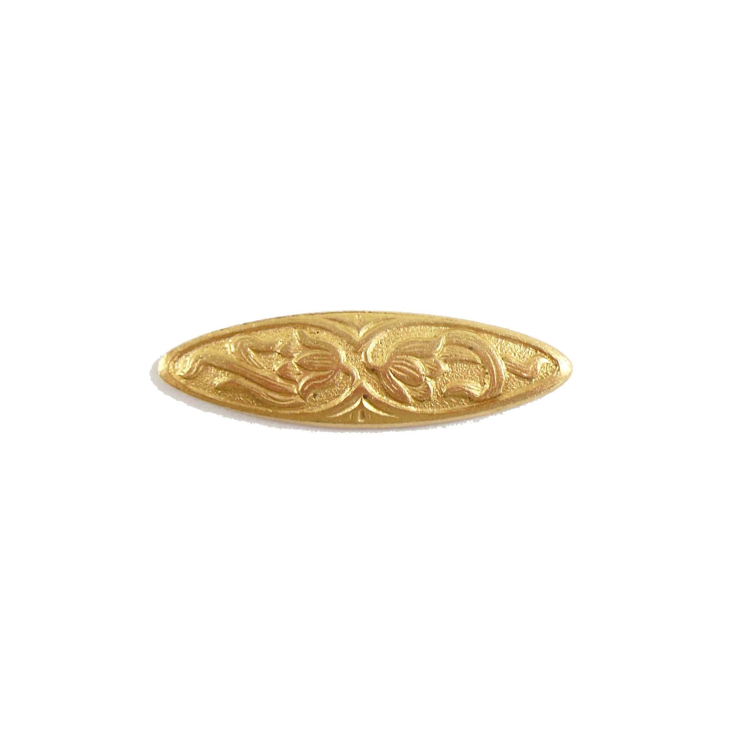 brass floral bar, jewelry making, raw brass, 26mm