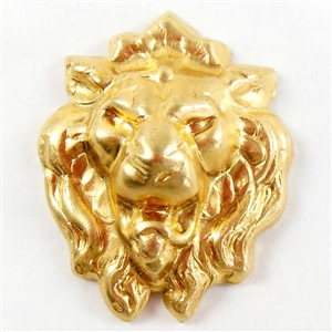 brass lion, mold making jewelry, jewelry supplies