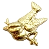 brass birds, bird jewelry, jewelry supplies, 05520, jewelry making, raw brass, unplated brass, bird on a branch, charm, embellishment, animal, nature, brass stamping, stamping, bird stamping