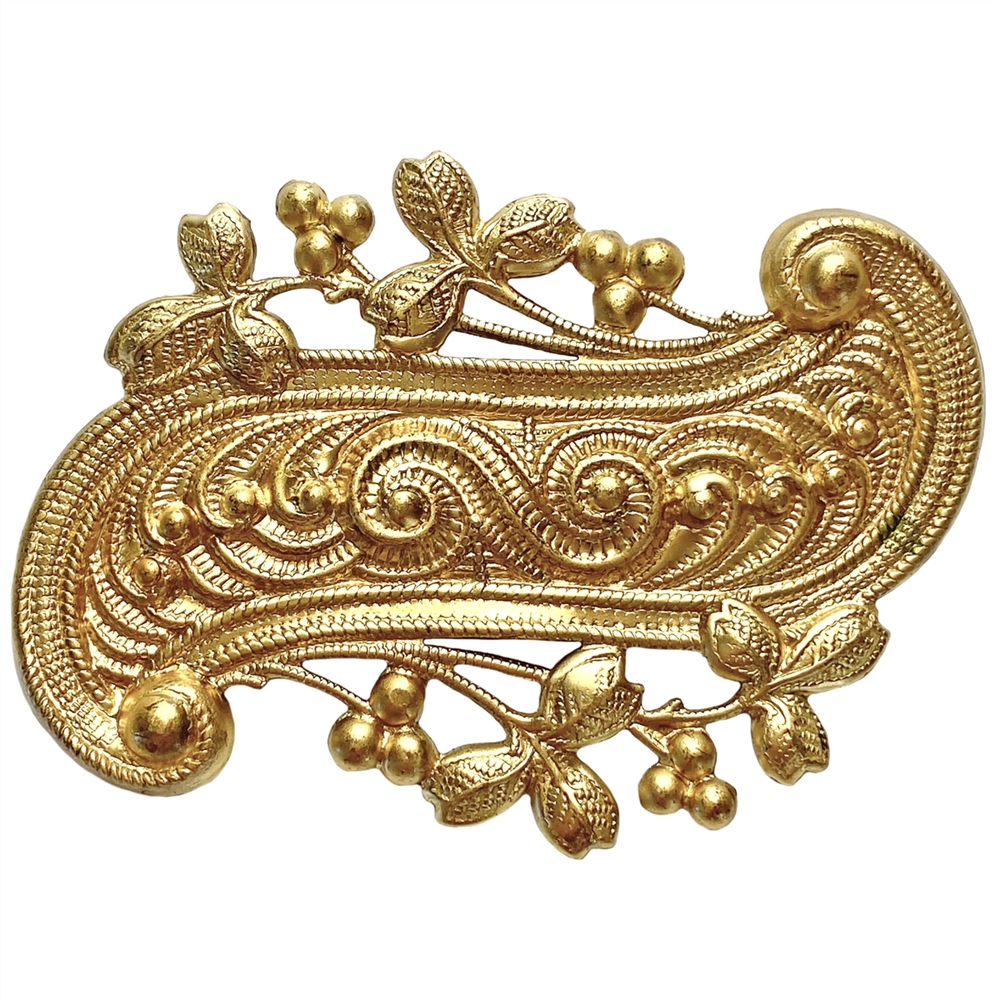 brass stampings, Victorian, unplated brass