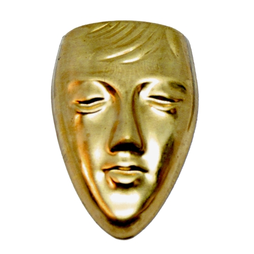 brass face, face molds, mold making, 06167, mold making supplies, jewelry making supplies, brass jewelry parts, polymer clay supplies, raw brass, antique brass, brass face molds, bsueboutiques, nickel free, US made jewelry supplies