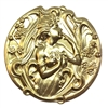 Brass Stampings, Victorian Lady, Raw Brass, 54mm