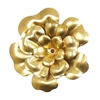 tea rose 3 layer flower, raw brass, riveted, brass stamping, tea rose, 3 layer, unplated brass, brass, raw, flowers, brass flower, tea rose style, 40mm, B'sue Boutiques, nickel free, us made, jewelry findings, vintage supplies, jewelry supplies, 06386