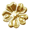 brass flower, raw brass, 48mm