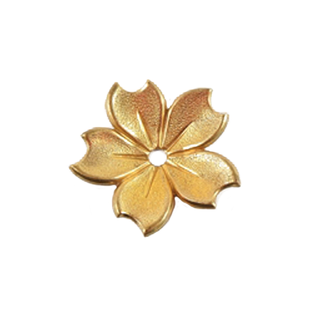 brass flower, flower base, raw brass, flower, brass stamping, leave, rose, unplated brass, design elements, drilled, dapt design, brass, 25mm, us made, nickel free, b'sue boutiques, jewelry findings, vintage supplies, jewelry supplies,jewelry making,07176