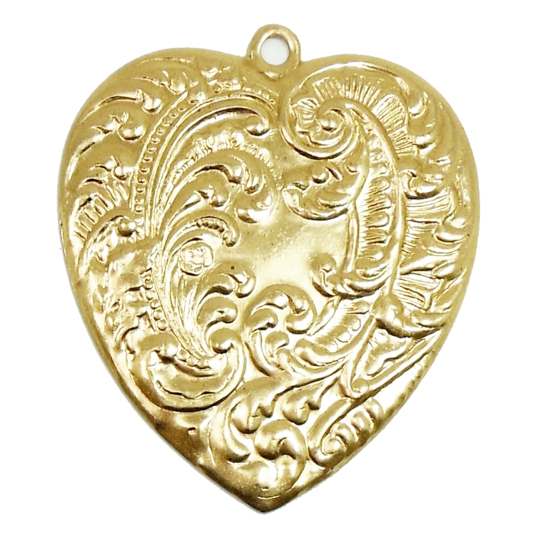 Brass Stampings, Heart Stampings, Raw, 07940, vintage jewelry supplies, jewelry making supplies, raw brass hearts, heart, antique brass, brass hearts,