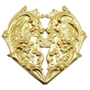 brass stampings, brass hearts, jewelry making, raw, heart,