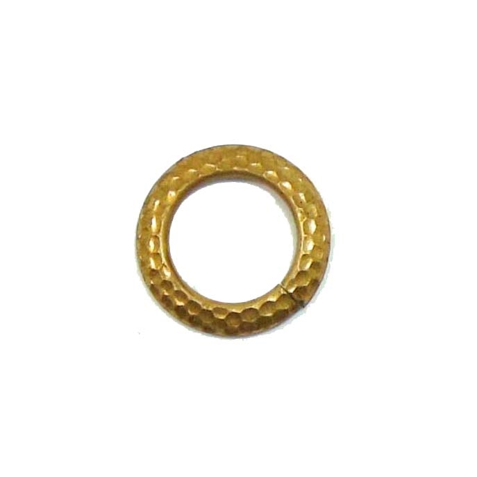 circlet, toggle, raw brass, 20mm