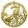 sea creatures, seahorse, raw brass, 51mm,  08344, vintage jewelry supplies, jewelry making supplies, Bsue Boutiques, nickel free jewelry, US made jewelry supplies, antique brass
