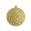 floral pendant, raw brass, 08361, brass pendant, unplated brass, flower design, floral, daisies, round pendant, circle pendant, 30mm, Bsue Boutiques, jewelry supplies, pendant