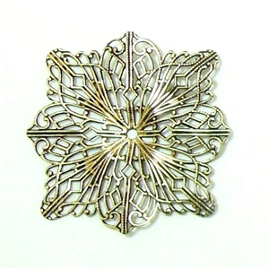 Brass Filigree, Drilled Filigree, Brass Ox, B'sue Boutiques, Nickel Free, 48mm