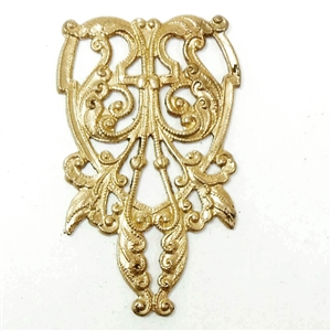brass filigree, brass stampings, beading filigree, 02176, vintage jewelry supplies, jewelry making supplies, Bsue Boutiques, US made jewelry supplies, nickel free jewelry supplies,