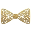 Brass Filigree, Bow Tie, Raw Brass, 40 x 76mm