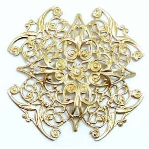 Victorian brass filigree, brass stampings,unplated