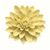 resin flower, Chrysanthemum, 03622, flower, flat back, yellow, B'sue boutiques, jewelry supplies, jewelry making, 52mm