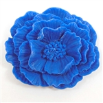 resin flowers, jewelry making, dark blue, 45mm