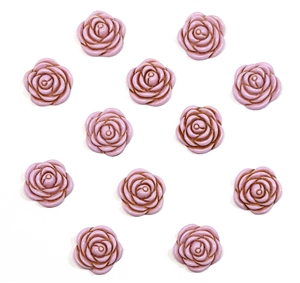 vintage acrylic roses, rose cabochons, flat back cabs, pink, pale pink, pale pink rose, pink roses, purple roses, flowers, oval rose cabs, vintage supplies, jewelry making, jewelry supplies, US made, B'sue Boutiques, rose flowers, floral cabochons, 05157