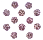 vintage acrylic roses, rose cabochons, flat back cabs, purple, mauve, pale purple, purple rose, purple roses, flowers, oval rose cabs, vintage supplies, jewelry making, jewelry supplies, US made, B'sue Boutiques, rose flowers, floral cabochons, 05158