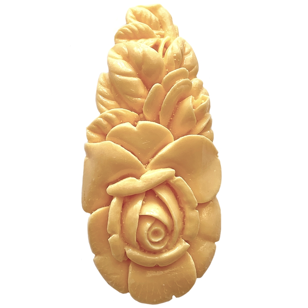 carved resin ivory cream flower, plastic flower, carved flower, resin flower, ivory cream flower, jewelry flower, pear cluster, rich ivory cream, jewelry making, vintage supplies, flower supplies, jewelry supplies, jewelry findings, 58x28mm, 05561