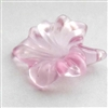 acrylic flowers, plastic, drilled flowers, 07117, satin rose pink, B'sue Boutiques, US Made, vintage jewelry supplies, plastic flower beads, jewelry findings, acrylic jewelry, mixed media jewelry