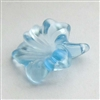 acrylic flowers, plastic, drilled flowers, 07119, satin lt sapphire, B'sue Boutiques, US Made, vintage jewelry supplies, plastic flower beads, jewelry findings, acrylic jewelry, mixed media jewelry