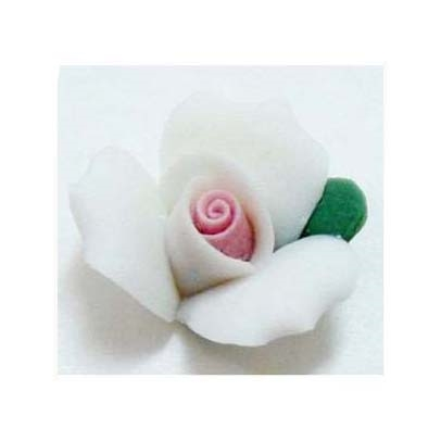 ceramic flowers, jewelry supplies, handmade,07269, vintage jewelry supplies, flowers, white flowers, Bsue Boutiques, flower jewelry,