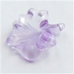 acrylic flowers, plastic, drilled flowers, 07538, satin lt amethyst, B'sue Boutiques, US Made, vintage jewelry supplies, plastic flower beads, jewelry findings, acrylic jewelry, mixed media jewelry