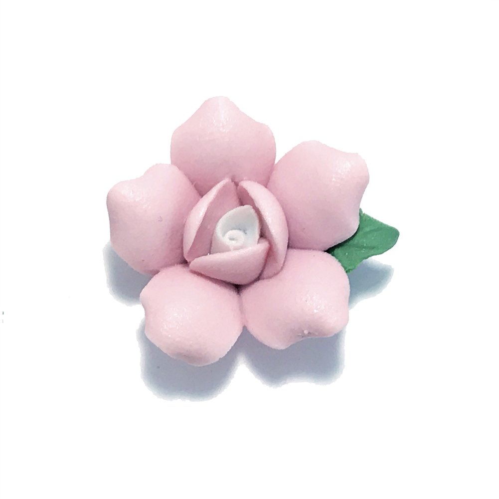 ceramic flowers, jewelry supplies, handmade flowers, bisque roses, jewelry making supplies, vintage jewelry supplies, pink flower, b'sueboutiques, 0788, 25mm, pink rose, rose, ceramic rose