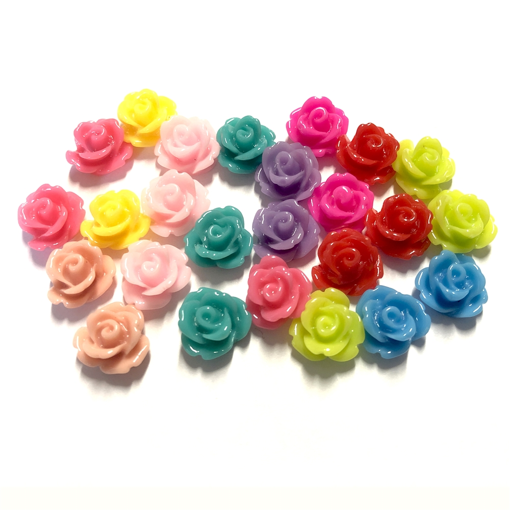 resin flowers, roses, mixed colors, 09126, B'sue Boutiques, assemblage flowers, vintage jewelry supplies, jewelry making, plastic flowers, jewelry making flowers, US made flowers, jewelry findings