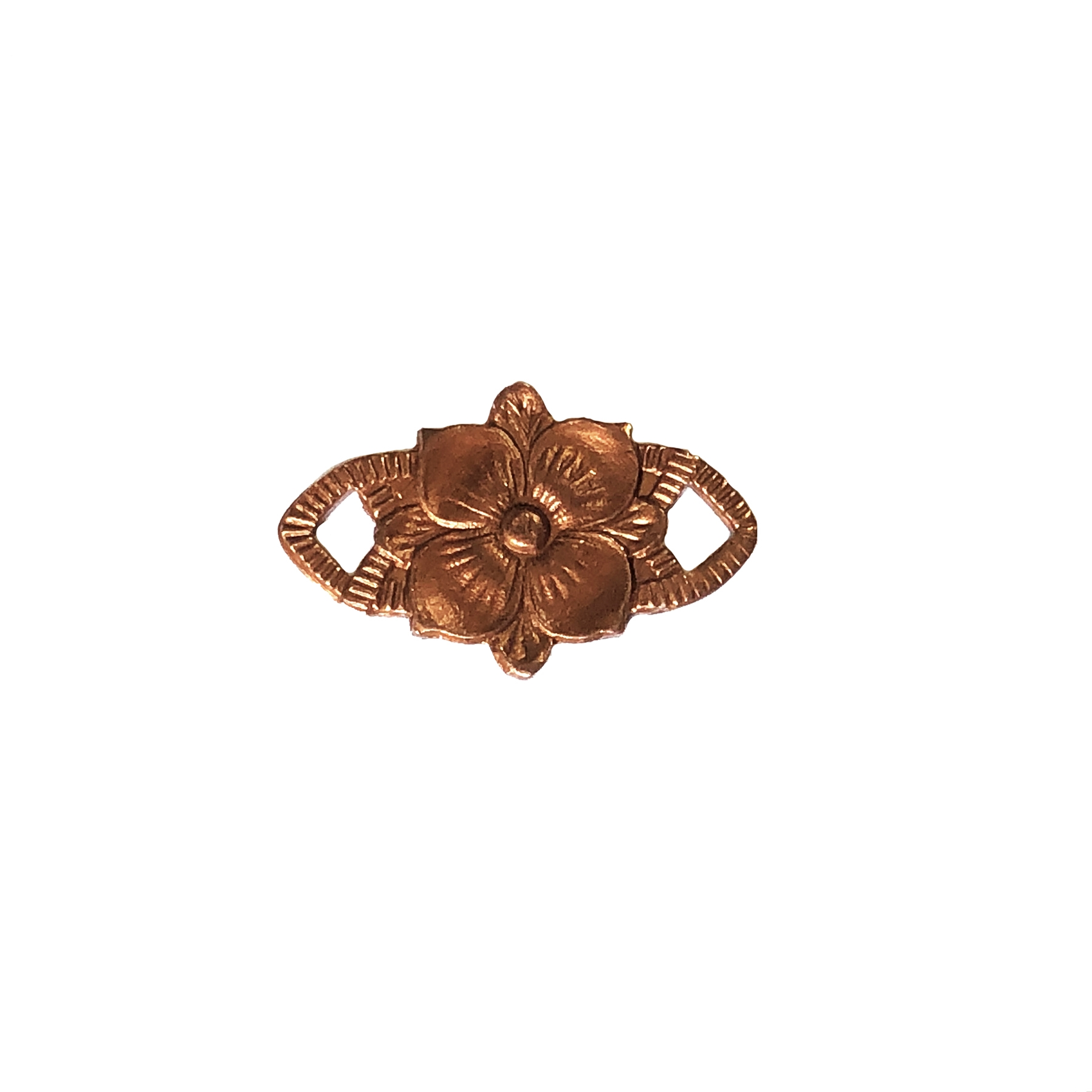 rosette, connector, jewelry making, jewelry supplies, flower connector, Victorian, vintage brass, antique copper, brass jewelry, vintage supplies, jewelry connectors, B'sue Boutiques, connector, flower, gingerbread brass, 0502