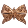 bow, connector, 0505, copper, folded over bow, brass bow, bow connector, bow pendant, pendant, gingerbread brass, B'sue Boutiques, jewelry supplies, ribbon bow, brass ribbon, floral bow