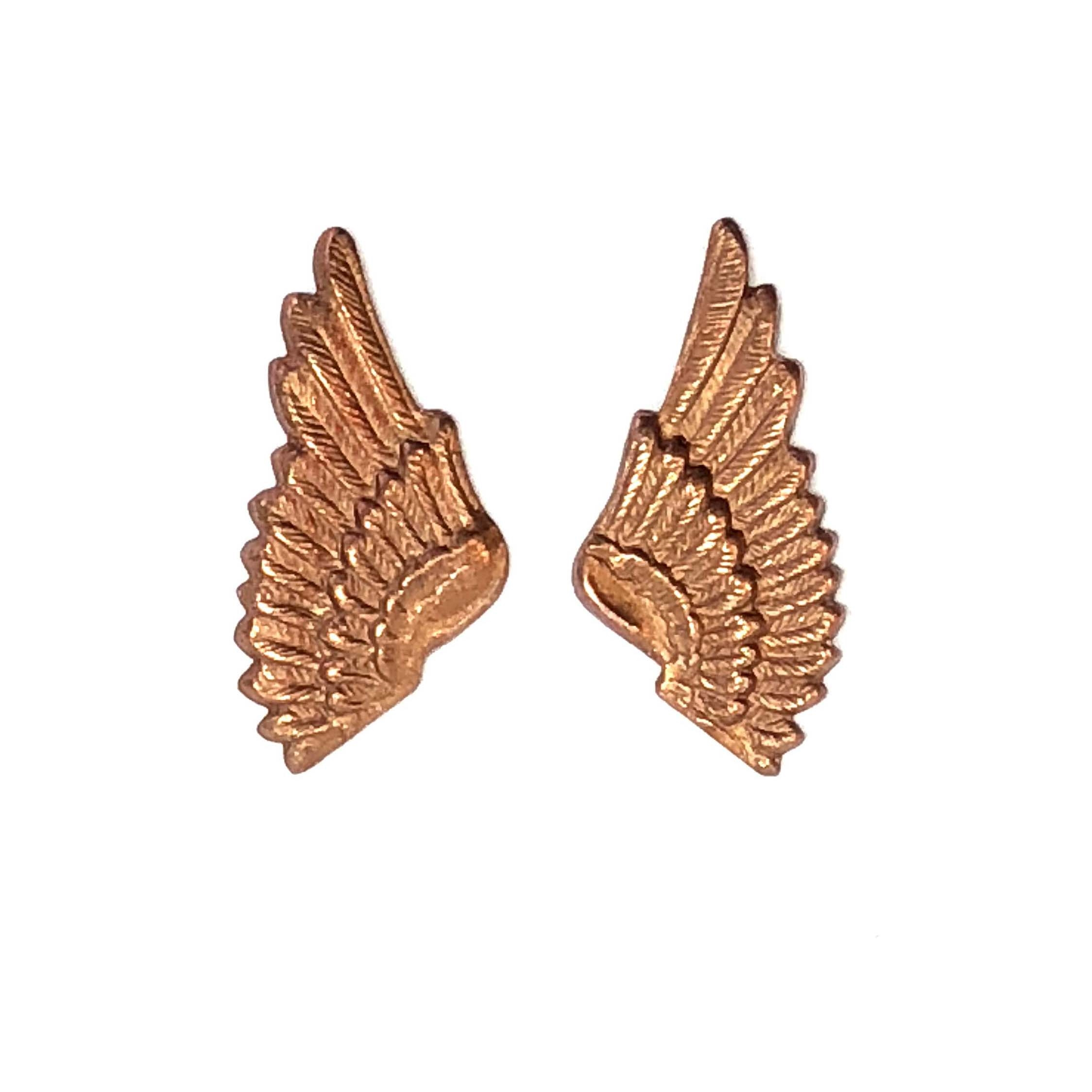 brass wings, bird wings, gingerbread brass, 0582, vintage jewelry supplies, brass jewelry parts, jewelry making supplies, US made, nickel free, Bsue Boutiques, embellishments, wings, steampunk