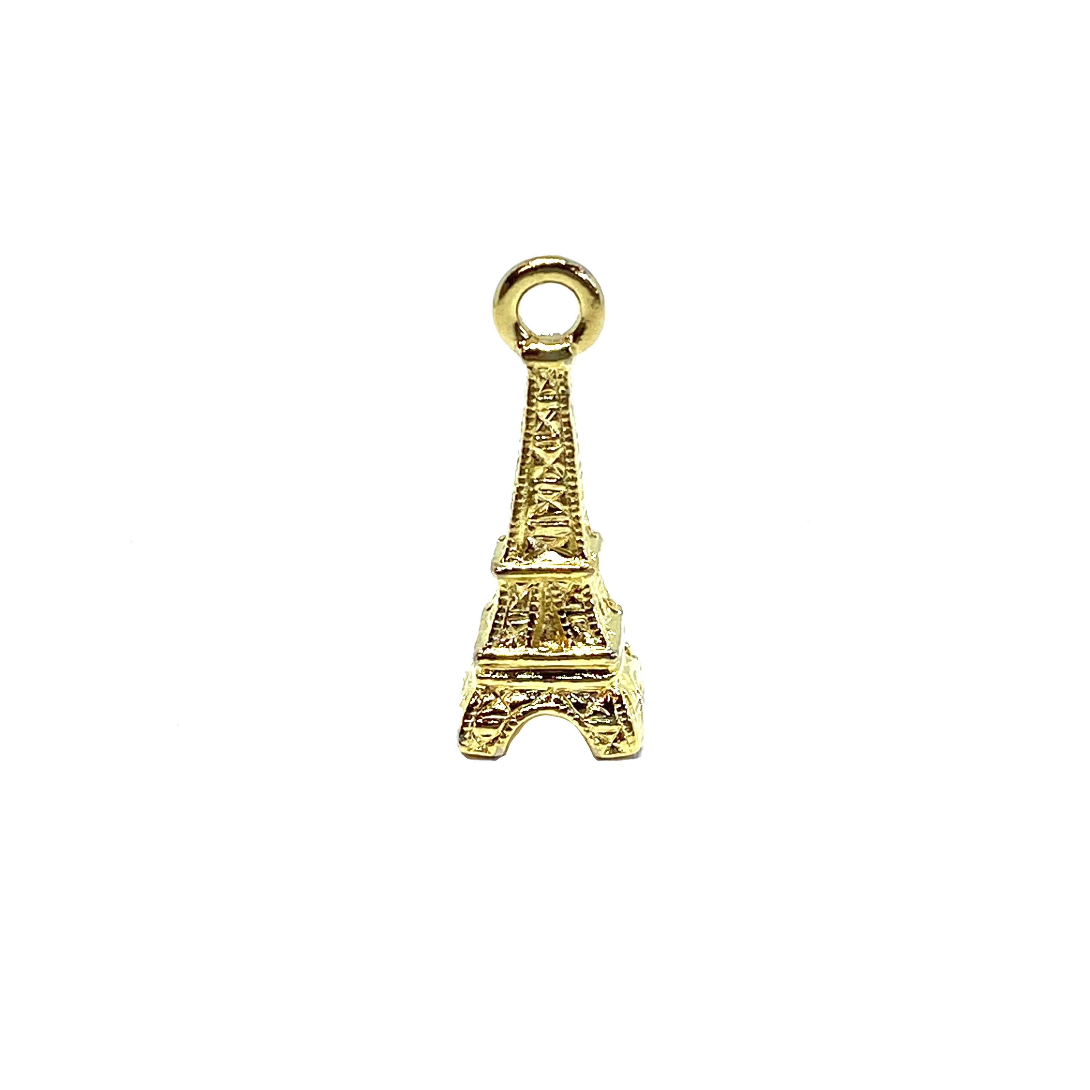 French charms, Eiffel tower, lead free pewter castings, B'sue by 1928, 1928 Company, designer jewelry findings, vintage jewelry parts, 1928 Jewelry, plated pewter, filigree, B'sue Boutiques, 22K gold finish, made in the USA, 01620