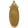 victorian style oblong pendant, B'sue by 1928, Victorian pendant mount, cameo mount, stone mount, 22K gold finish, pendant, vintage, nickel-free, lead-free pewter, vintage castings, US-made, vintage supplies, 1928 Jewelry, B'sue Boutiques, gold, 02213