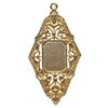 Victorian pendant mount, 22K gold finish pewter, B'sue by 1928, jewelry pendant, pendant mount, mount, pendant, gold, lead free pewter, gold finish, US made, designer jewelry, vintage supplies, B'sue Boutiques, 04663