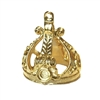 pewter crown pendant, 22k classic gold, 0667, 1928 Jewelry Company, pewter castings, crown pendant, recess crown pendant, 25 x 18mm mount, jewelry making supplies, vintage jewelry supplies, US made, nickel free, Bsue Boutiques,