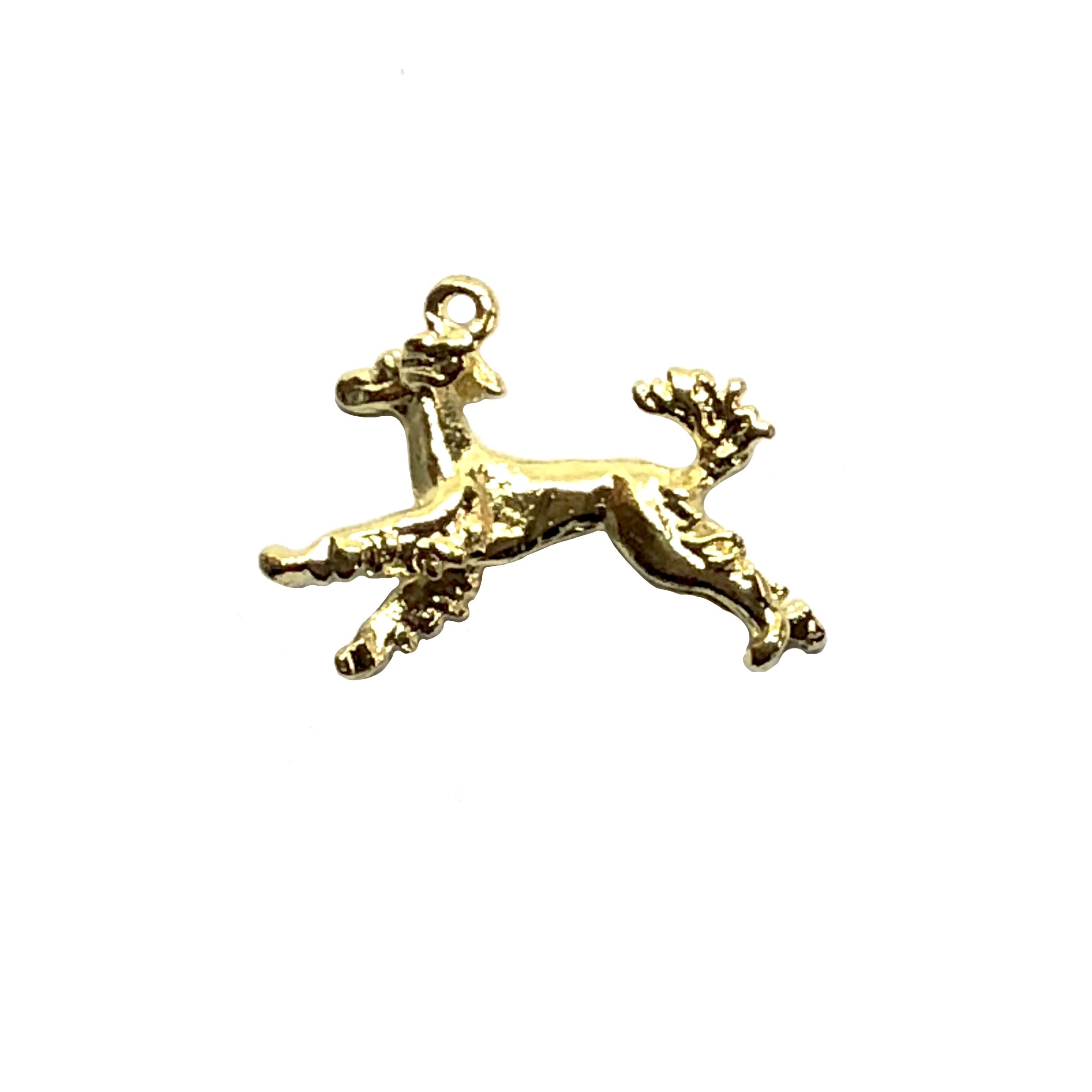 Irish setter charm, 22K gold finish pewter, B'sue by 1928, jewelry charm, dog stamping, dog, dog charm, charm, Irish setter, gold, lead free pewter, gold finish, US made, designer jewelry, vintage supplies, B'sue Boutiques, 24x20mm, 08530