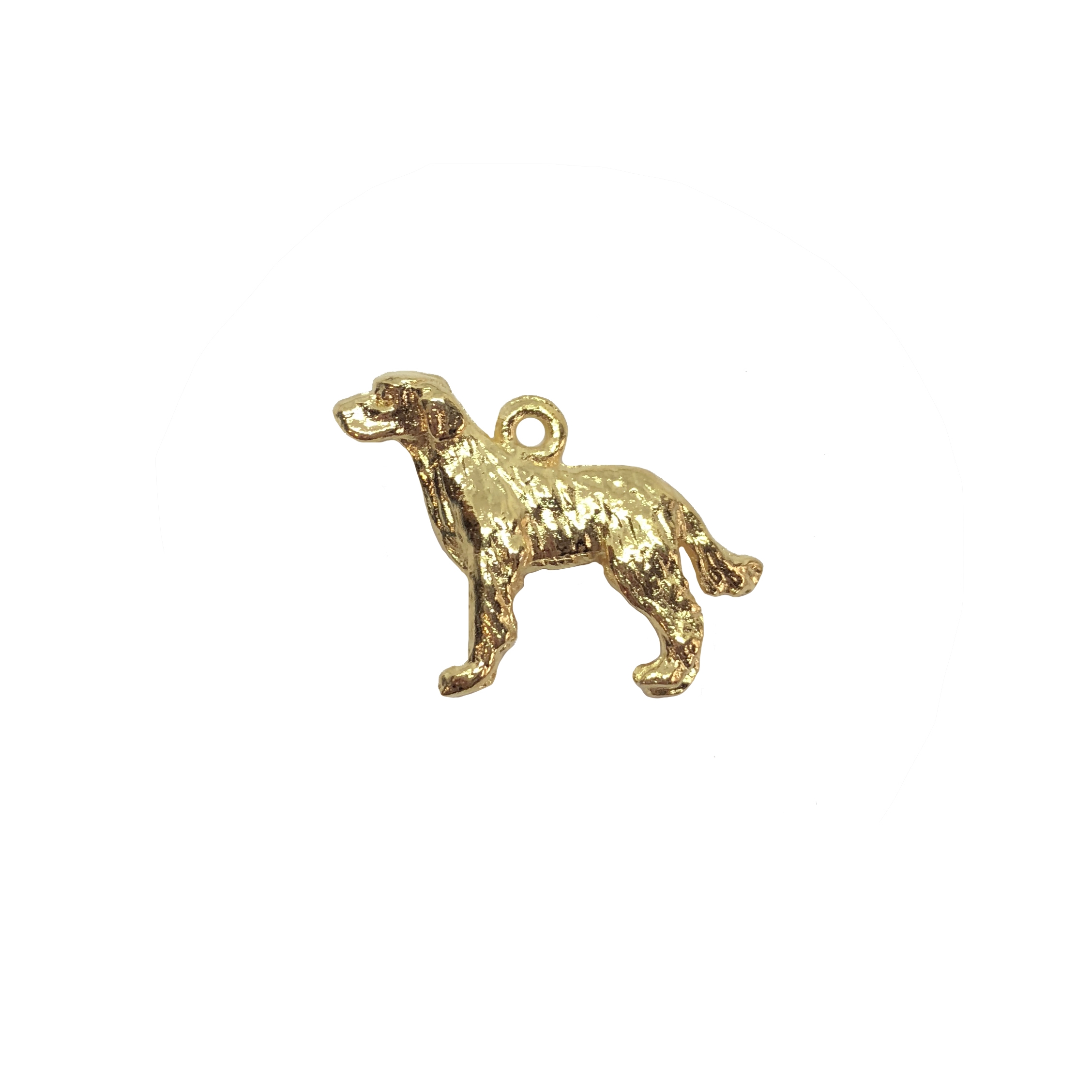 Labrador retriever charm, 22K gold finish pewter, B'sue by 1928, jewelry charm, dog stamping, dog, dog charm, charm, Labrador, gold, lead free pewter, gold finish, US made, designer jewelry, vintage supplies, B'sue Boutiques, 15x20mm, 08533