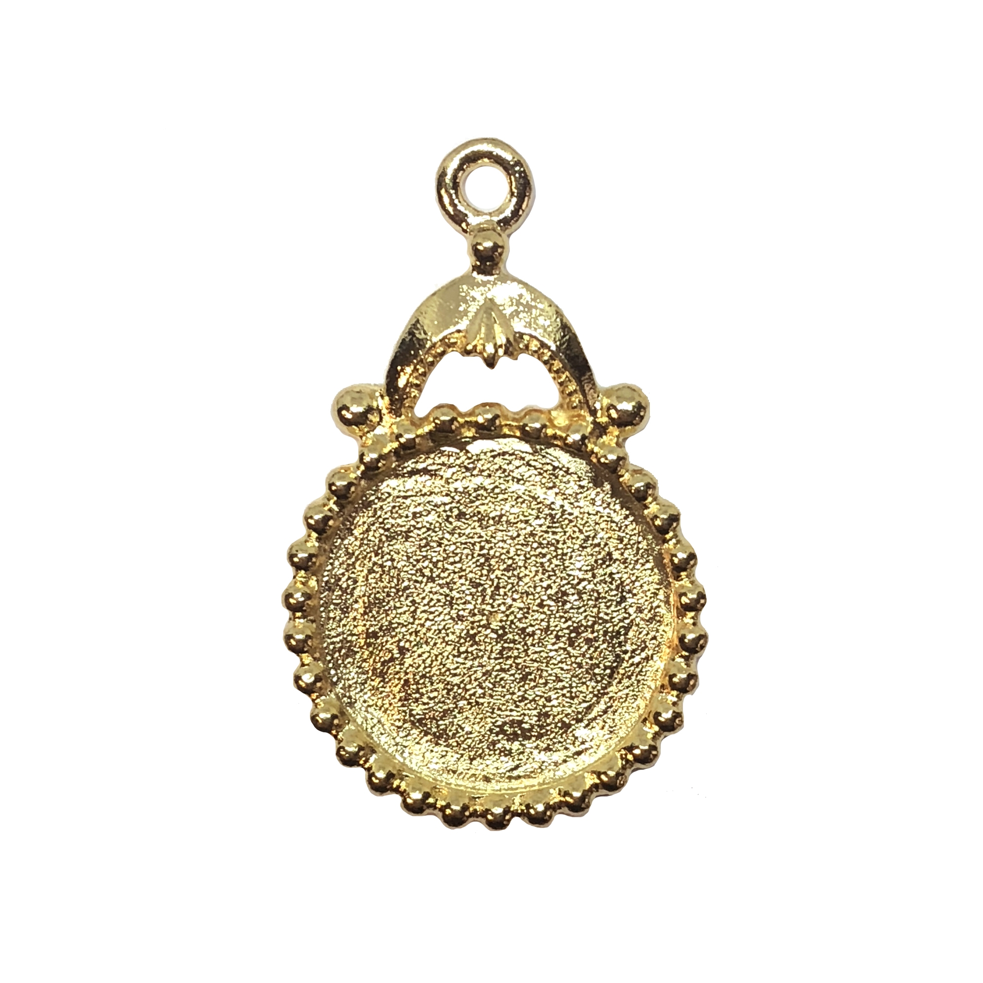 victorian style pendant, B'sue by 1928, Victorian mount, 18mm mount, stone mount, 22K gold finish pewter, gold, mount, vintage style, lead free pewter, vintage castings, US made, vintage supplies, 1928 Jewelry, B'sue Boutiques, gold finish, 05682