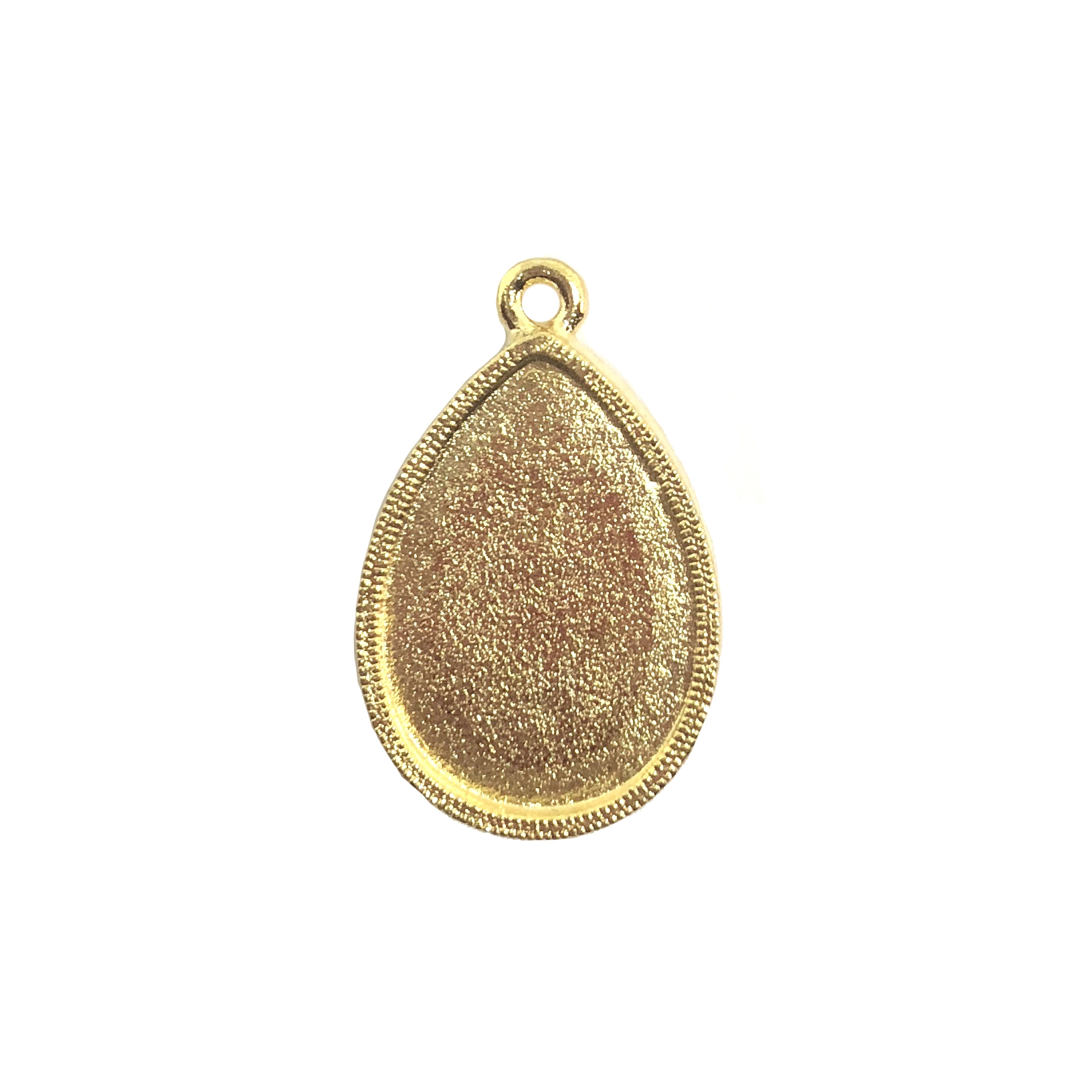 teardrop bezel, pendant, 22K gold finish pewter, vintage pewter castings, B'sue by 1928, mount, bezel, teardrop, pendant, lead free pewter, US made, designer jewelry, vintage jewelry supplies, 1928 Jewelry, B'sue Boutiques, drop, gold, 08547