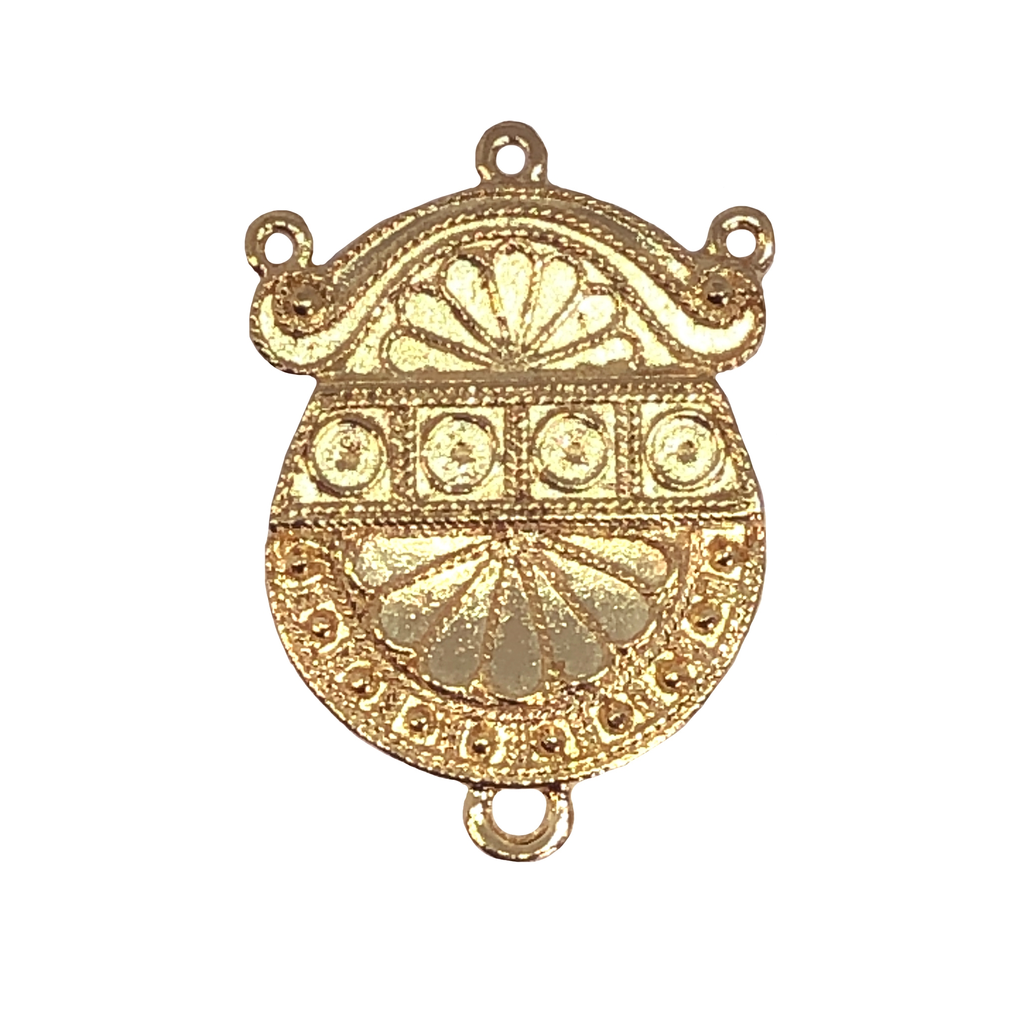 victorian centerpiece pendant, 22K gold dipped, victorian pendant, lead free pewter, B'sue by 1928, gold, 22K, vintage jewelry parts, pewter jewelry parts, us made, 1928 Company, designer jewelry, B'sue Boutiques, 34x26mm, 09491
