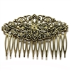 hair comb, floral comb, Victorian filigree hair comb, antique bronze, 09151, antique brass, designer hair comb, hair accessories, hair jewelry, hair findings, antique bronze hair comb