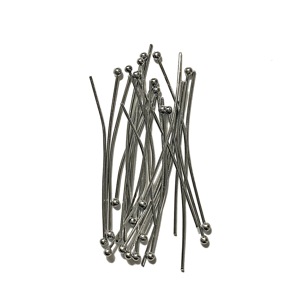 gunmetal ball end headpins, headpins, ball end head pins, jewelry making, light weight head pins, 1.5 inch headpins, beading supplies, jewelry supplies, gunmetal headpins, gunmetal, vintage supplies, jewelry making, headpin supplies, 02993