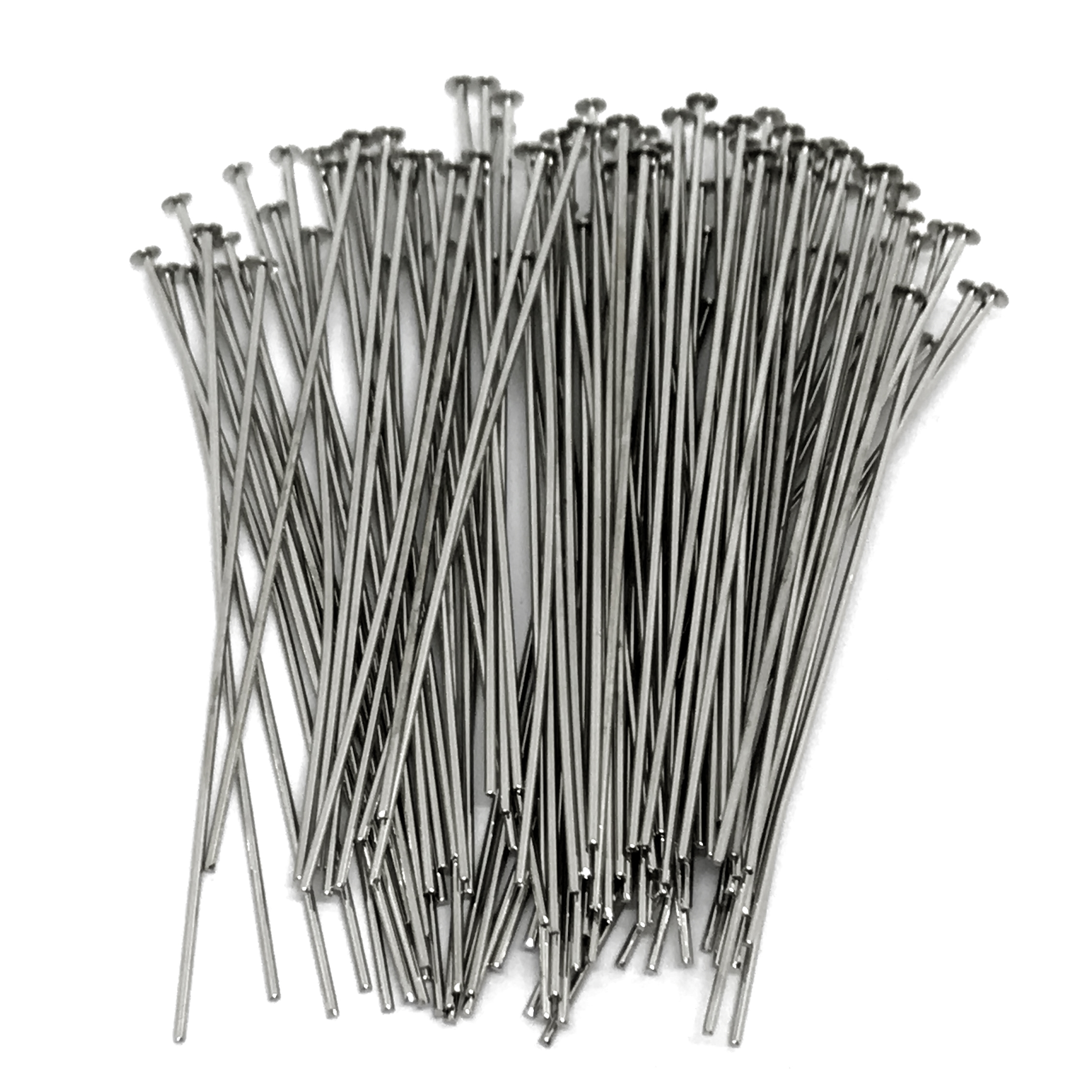 headpins, 2 inch headpins, silver plate, 04059, jewelry making supplies, vintage jewelry supplies, earring supplies, antique silver, US made, Bsue Boutiques, nickel free jewelry supplies