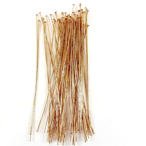 brass headpins, 4 inch headpins, jewelry making, raw brass headpins, 05934, jewelry findings, ear ring findings, vintage jewellery supplies, antique brass headpins, B'sue Boutiques, nickel free headpins, US made headpins