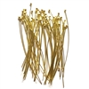 headpins, ball end head pins, jewelry making, light weight head pins, thinner size headpins, beading supplies, jewelry supplies, gold plate head pins, antique gold, B'sue Boutiques, nickel free, US made, 0765